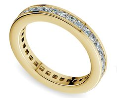 Princess Channel Eternity Ring in Yellow Gold (1 3/4 ctw)