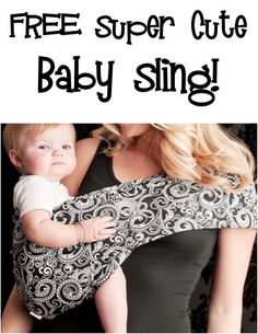 FREE Super Cute Baby Sling!  {+ s/h} ~ these make great Baby Shower gifts, too! #babies #babygear #thefrugalgirls