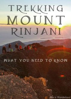 Everything you need to know before making the grueling trek to the top of Indonesia's Mount Rinjani :) | Alex in Wanderland
