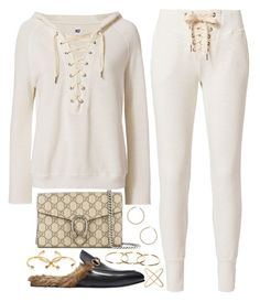 Perfect strangers by liberhty on Polyvore featuring polyvore, fashion, style, NSF, Gucci, Eva Fehren, ERTH and clothing