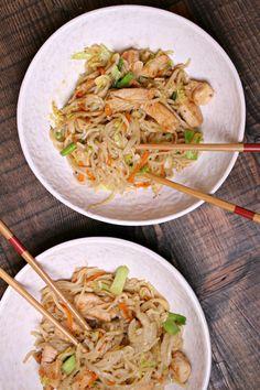 Easy Chicken Chow Mein Recipe - from RecipeBoy.com