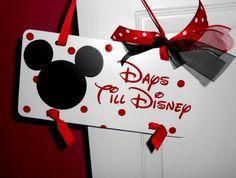 Chalkboard Disney Countdown Sign