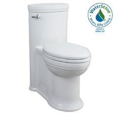 Porcher - Archive Elongated High Efficiency 1-Piece Toilet shown in White (001)