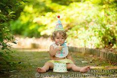 1st birthday party custom bib + hat idea via Kara's Party Ideas - www.karaspartyideas.com.