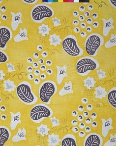 Duncan Grant (1885-1978) designed this printed linen furnishing fabric entitled 'Grapes' for Allan Walton textiles in 1932. It was used for the upholstery and drapery of a music room designed by Grant and Vanessa Bell. This was on display in the Lefevre Gallery showroom in London.