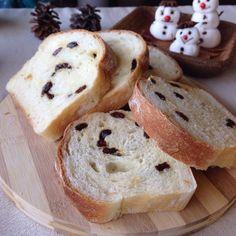 Homemade raisin bread.