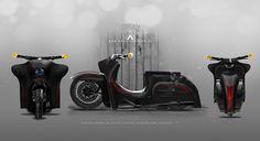 Simson Schwalbe Concept by AREA12DESIGN & Fußrastenraudis alias VEB-KUSTOMS im Victory Bagger-Bike-Style
