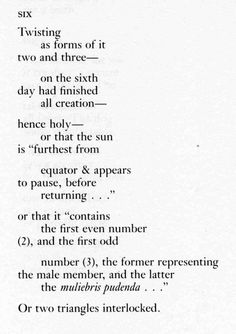 This is an excerpt from Robert Creeley's poem Numbers. I found it in Creeley's collected (1945-1975).