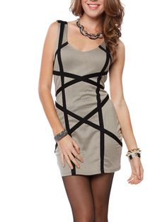 Papaya Clothing Online :: CONTRAST TRIM BODYCON DRESS