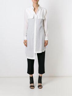Yohji Yamamoto Long Asymmetric Shirt - 4 - Farfetch.com