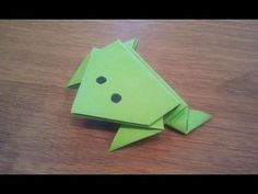 Daily Origami: 003 - Jumping Frog 01 - YouTube