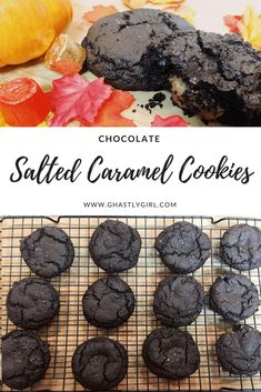 These salted caramel chocolate cookies are ooey, gooey, and a MUST add to your fall baking this yeaar! Salted Caramel Cookies, Salted Caramel Chocolate, Chocolate Cookie Recipes, Chocolate Caramels, Chocolate Cookies, Sugar Cookies, Chocolate Chocolate, Just Desserts, Delicious Desserts