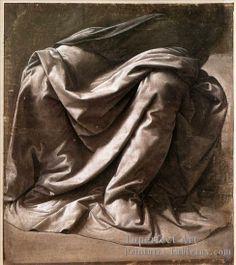 Leonard De Vinci, Etude de draperie pour figure assise