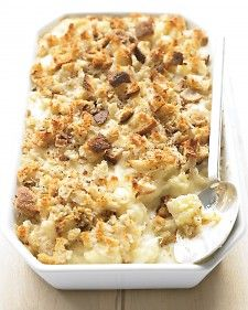 Cauliflower Gratin. **Nancy's Update: I made this on 12/31 and loved it! Make sure you use the largest head of cauliflower you can find, and be generous with the salt and pepper.  Definitely adding this to the rotation.