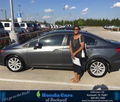 https://flic.kr/p/GnjP11 | Happy Anniversary to Clarissa on your #Honda #Civic Sdn from Scott Durkin at Honda Cars of Rockwall! | deliverymaxx.com/DealerReviews.aspx?DealerCode=VSDF