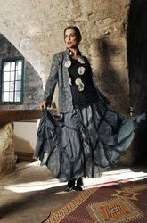 nuno felt skirt and top by claudia manokian