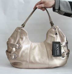 Bodhi St. Barts Hobo Purse Bag Tote Pewter Large  NWT