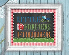 Farm Tractor - Barnyard Birthday - Party Signs - Printable - Instant download
