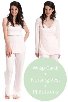 943d503c649b8 Blush Pink Maternity Pajama Set, Nursing Pajama Set, Nursing Vests, Nursing  Tops,