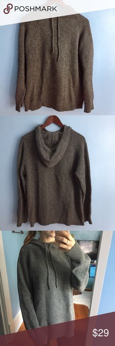 Oversized Gray J. Crew Cowl Neck Hoodie Excellent used condition. Reasonable offers will be considered. J. Crew Tops Sweatshirts & Hoodies