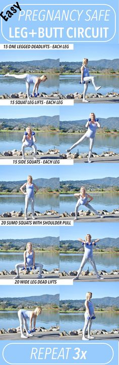 Pregnancy safe workout, leg and butt circuit