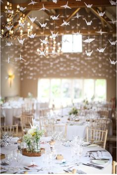 1000 Stunning Cranes At The Wedding Of Adele Bill Hyde Barn