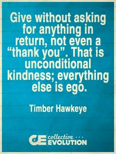 Unconditional Kindness - Timber Hawkeye