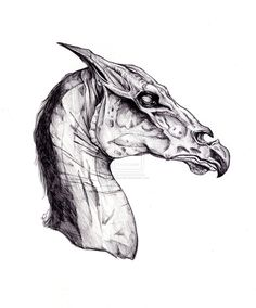 This is a detailed pen drawing of the mythical beast from Harry Potter. this has to be one of my favorite mythical creatures and one of my b. Arte Do Harry Potter, Harry Potter Drawings, Harry Potter Fandom, Harry Potter World, Harry Potter Tattoos Sleeve, Thestral Tattoo, Desenhos Harry Potter, Hp Tattoo, Magical Creatures