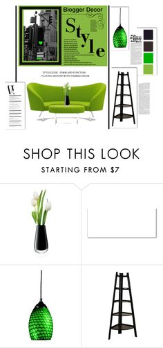 """""""Blogger Decor"""" by emcf3548 ❤ liked on Polyvore featuring interior, interiors, interior design, home, home decor, interior decorating, LSA International, Masquerade, Z-Lite and Danya B"""