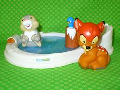 FISHER PRICE Little People Disney Bambi and Thumper Pond Playset 3 pc Movie