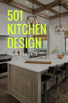 A gallery full of kitchen designs that would give you an idea what design to put in your kitchen. #kitchendesign #kitchenremodel #kitchen