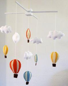 To make for my niece! make bake & love: Hot Air Balloon Mobile DIY