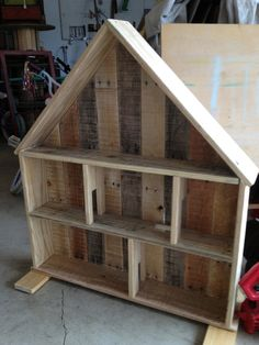 Scrap Wood Doll House: Made from Reused pallet wood, made to order