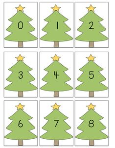 "FREE 0-120 Christmas Tree Number Cards. Great to use in centers, or for those ""early finishers""."