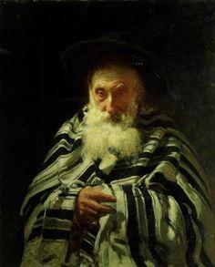 'Joodse man in gebed', 1875 / Ilja Repin (1844-1930) / Tretjakovgalerij, Moskou, Rusland.