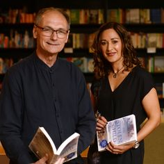 Sanjida Kay and actor, Chris Scott, at the book launch for THE STOLEN CHILD. Waterstones, Bristol I Want Her Back, Book Launch, My Children, Bristol, Thriller, Psychology, Writer, Author, Books