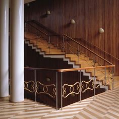 Foyer, Danish Radio, Concerthall, Copenhagen, DK. Architect : Vilhelm Lauritzen