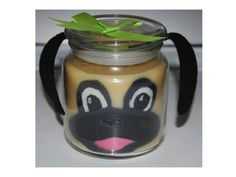 Pug Candle made with supplies from www.naturesgardencandles.com  #candlemaking #candle #supplies #making #naturesgarden