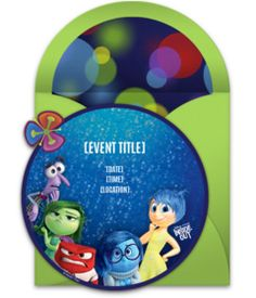 Tons of free Disney invitation templates. We love this free Inside Out invite, perfect for inviting friends to a birthday party or movie night.