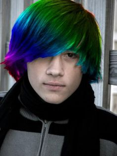 Rainbow hair color ideas for men 2016