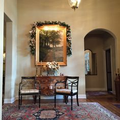 A favorite French Country home dressed for the holidays. Jeffrey Evans Design