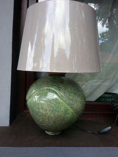 Ceramics green lamp