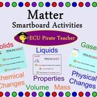 Matter Smartboard Lessons and Activities is an interactive, exciting way to teach matter! Slides have object animation to catch students attention and keep them engaged in the learning process! This Smartboard unit covers matter, liquids, solids, gases, mass, volume, properties, physical changes, chemical changes, and experiments! Covers Common Core Standards for 2nd grade!