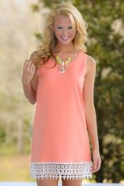 Well Spent Day Dress-Coral