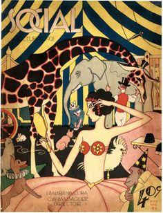 Social vol XVI nr. Art Deco Illustration, Fashion Illustration Vintage, Vintage Illustrations, Vintage Cuba, Vintage Art, Anthony Browne, Arts And Crafts Movement, Vintage Magazines, French Art
