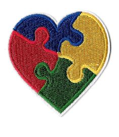 Iron On Applique Patch ( 1 ) Autism Awareness Heart Iron On Patch - Measurements are taken at widest points x highest points 2-5/8 x 2-5/8 ~ 6.7cm x 6.7cm Awareness Embellishment APPLICATION INSTRUCTIONS; (1) Preheat iron to cotton setting. DO NOT USE STEAM DURING APPLICATION.