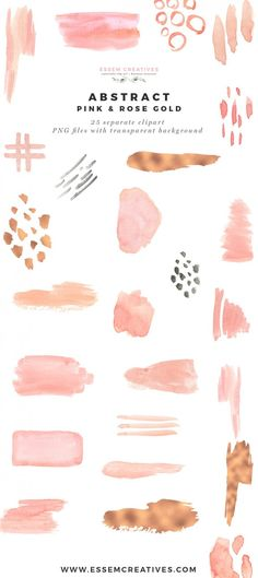 Modern Abstract Pink and Rose Gold Watercolor Design Kit Essem Creatives Use these modern watercolor abstract clipart designs to create your own DIY Wedding Stationery, save the date and more. Perfect for modern unique graphic design projects. Watercolor Design, Abstract Watercolor, Watercolour Painting, Water Color Abstract, Watercolor Tattoos, Abstract Paintings, Diy Wedding Stationery, Watercolor Wedding Invitations, You Are Art