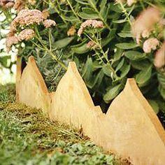 Terra-Cotta Tile Flowerbed Edging