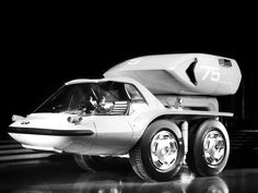 """1964 GM Bison Concept Car """"This is the Bison, a turbine-powered freight hauler which could carry containerized cargoes at new peaks of efficiency on tomorrow's express highways."""""""