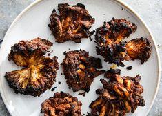 Memphis Dry-Rub Mushrooms Recipe - NYT Cooking Roasted Mushrooms, Stuffed Mushrooms, Stuffed Peppers, Memphis Dry Rub, How To Cook Mince, Dry Rub For Ribs, Garlic Chips, Mushroom Varieties, Eggplant Recipes